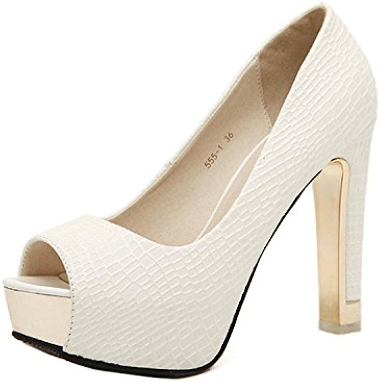 Gaorui Damen Peep-toe Pumps High heels Plateau Hochzeit Party Schuhe Sexy kurvenreich