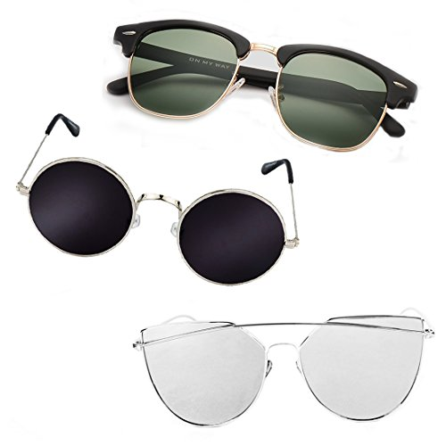 Elligator Stylish tripple combo of Unisex Sunglasses