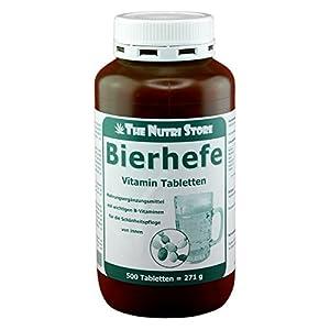 Bierhefe 500 mg Vitamin Tabletten 500 Stk. – mit wichtigen B-Vitaminen für die Schönheitspflege von innen