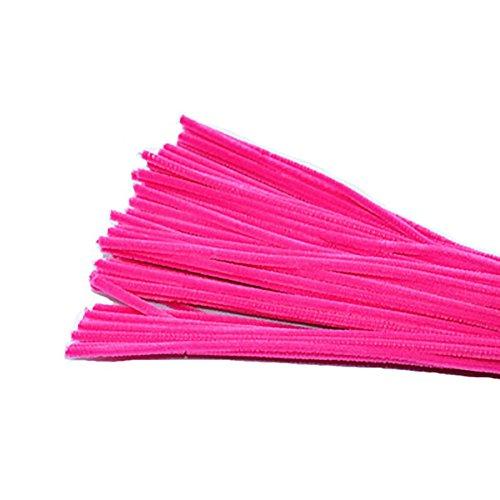 Joyfeel buy Limpiadores de Pipa Tallos de Chenilla limpiapipas Brillante DIY Artesanal Juguete para niños Manualidades 95~100 Piezas 11.81 Pulgadas Rosa Oscuro
