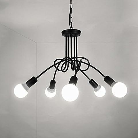 wysm Five Led Chandelier Lampe à double usage Modern Living Living Salle de séparation Living Room Lighting