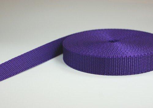 10m PP Gurtband - 25mm breit - 1,2mm stark - lila (UV)
