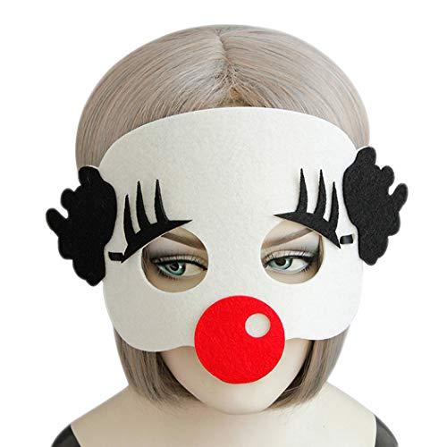 Zoylink Kostüm Party Maske Filz Maske Cute Clown Lustige Maske für Halloween Weihnachten