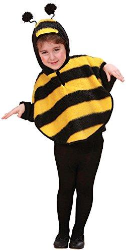 Widmann 5927E - Poncho Bienenkostüm, Größe 98 (Bumble Bee Kostüme Ideen)