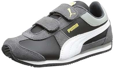 Puma Puma Aley L/S V Kids 355193 Unisex-Kinder Sneaker Grau (dark shadow-black-white-limestone gray 03) 19