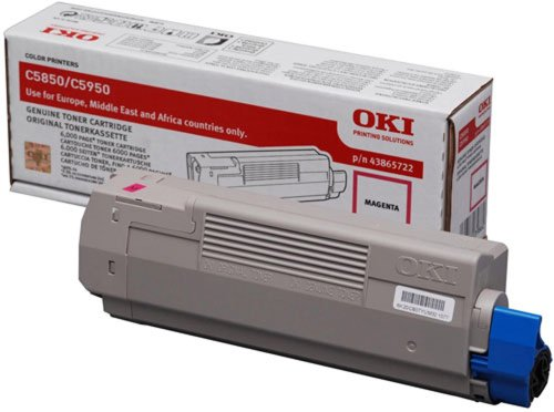Get OKI C5850 Toner Cartridge 6000 Pages – Magenta 43865722 Review