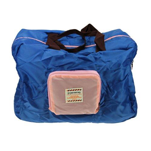 FakeFace Faltbare Nylon Damentasche Henkeltasche Schultertasche Umhängetasche Weich Shopper für Reise Camping Wandern Sport Einkaufen Shopping (Dunkelblau)