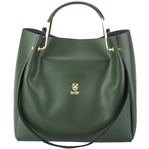 Borsa Eleonora - 8051 - Borse in pelle - borse da donna Verde scuro