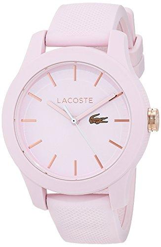 Lacoste Damen Datum klassisch Quarz Uhr mit Silikon Armband 2001003