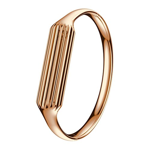 Fitbit Flex 2 Armband, OverDose Fashion Edelstahl Zubehör Armreif Uhrenarmband Armband für Fitbit Flex 2 (Rosegold, Fitbit Flex 2)