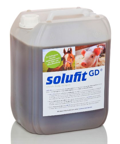 solufit GD - rein biologisches Kompostextrakt für Trockentoiletten, Stallhygiene, Kompostbeschleuniger, Fliegenschutz, Geruchsbekämpfung, Gülle- und Mistaufbereitung, 10 Liter