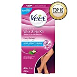 Veet Leg and Body Hair Remover Cold Wax Strips, 40 Count