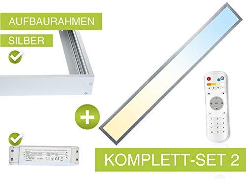 CCT LED Panel Set2 120x15cm 36W 3000K- 6000K silber