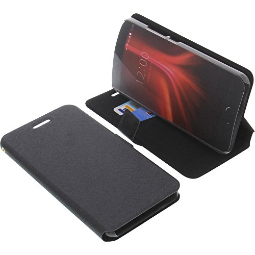 foto-kontor Tasche für UMIDIGI Z1 Book Style schwarz Kreditkarte Schutz Hülle Buch