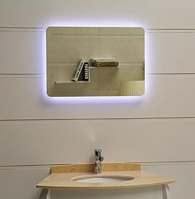 modernes Lichtspiegel Wandspiegel Badspiegel GS045N mit LED-Beleuchtung Tageslichtweiß IP44