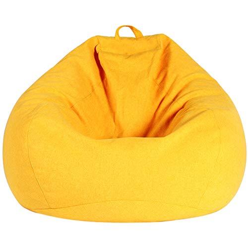 Extra große Sitzsäcke, riesiger Kordelkuschelsitz, klassische Kordel, große Memory Foam-Liege, großes, waschbares Sofa mit weichem Mikrofaserbezug, für Erwachsene, Kinder, 43 x 35 cm ( Color : Gelb ) -