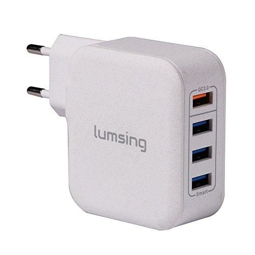 Lumsing Caricabatterie da muro 4 Porte USB