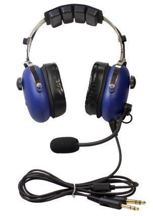 SkyLite SL-900M Aviation MP3-Headset, blau (Headset Aviation Mp3)