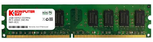 Komputerbay 2GB DDR2 533MHz PC2-4200 PC2-4300 DDR2 533 (240 PIN) DIMM Memoria Desktop