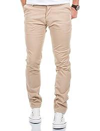 MERISH Pantaloni Chino Slim Fit Uomo Cotone Pantaloni Figura-sollecitato diversi colori Modell 169