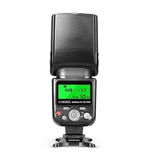 Voking VK750III C LCD Display E-TTL TTL flash Speedlite per Canon EOS 1D/5D/6D/7D/70D/77D/700D//80D/800D/1300D e altre fotocamere DSLR Hot Shoe