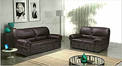 Polo Brown PU Leather 3+2 Seater Sofa Suite by San Diego