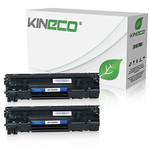 Zwei Laserjet (2 Kineco Toner kompatibel zu HP CE285A CE285X Laserjet Pro P1100, Laserjet Pro P1102w ePrint, Laserjet Pro M1132 All-in-One - 85A - Schwarz je 2.100 Seiten)
