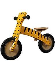 12 Zoll Holz-Lernlaufrad Tiger gelb mit Luftbereifung