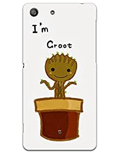 myPhoneMate I'm Groot Designer Printed Hard Matte Mobile Case Back Cover for Sony Xperia M5