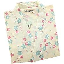 8dbd0723c4 HONGNA Pigiama Kimono Giapponese Femminile Primavera Ed Estate in Cotone  Doppio Strato Garza Vaporizzazione Accappatoio (
