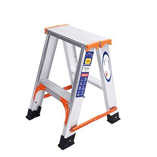 J&A Verstärkte A-Typ Leiter, Aufsteigen, Autowaschanlage, Glühbirnen Ändern, Startseite Bilaterale 2 Schritt/3-Stufen-Leiter/Hocker (Größe : - Typ Glühbirne J