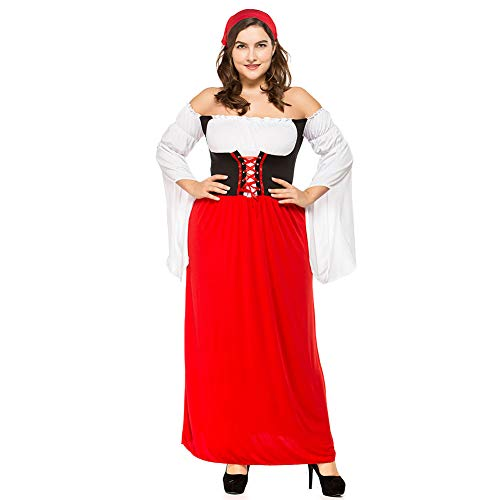 Julymall 3-teiliges langes deutsches Trageparty-Oktoberfest-Kleid Damen Deutsches