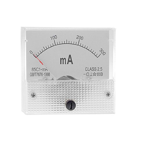 sourcingmap-white-hard-plastic-dc-0-300ma-amperemeter-panel-metter
