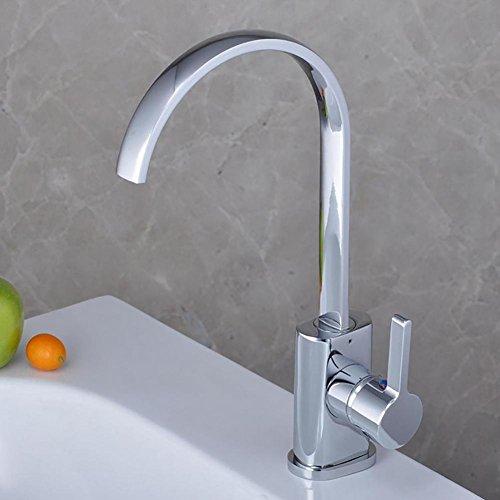 QINQIN Premium rame Chrome Ruota Acqua risparmio di Bagno rubinetto