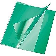 Brunnen 1040240 Buch-, Heftumschlag // Buchschoner, Buchh/öhe 24 cm, 44 x 24 cm, mit rotem Kantenschutz transparent
