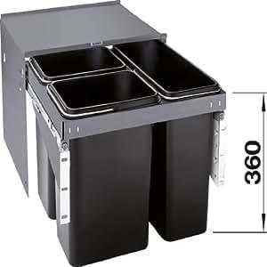 Blanco - Poubelles de cuisine - Blancoselect ECON 50/3 1 poubelle 17L+2 poubelles 11L