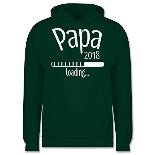 Vatertag - Papa 2018 loading - Männer Premium Kapuzenpullover / Hoodie Dunkelgrün
