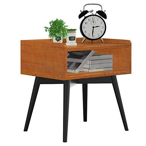 DD-Diverses Regal, Nachttisch, Beistelltisch, Stapelbarer Beistelltisch, Einfach Zusammenzusetzen, Zeitgenössischer Sofatisch, Mit Offenem Frontfach -Veredelung und Lagerung ( Farbe : Pear color ) -