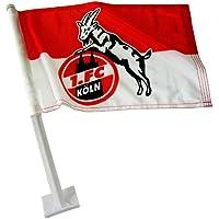 Trade Con Autofahne 1. FC Köln, Rot/Weiss/Schwarz, 30x45cm