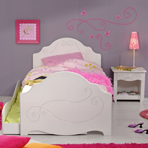 Bett mit Schubkasten und Nachtkommode Alisa Pharao24