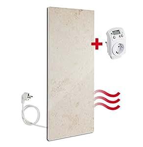 jura marmor infrarotheizung 800 watt von granotech mit thermostat heizstrahler elektroheizung. Black Bedroom Furniture Sets. Home Design Ideas