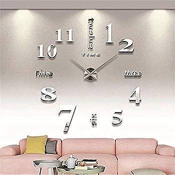 onetime xxl 3d silberne riesen designer wanduhr. Black Bedroom Furniture Sets. Home Design Ideas