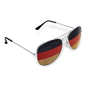 """HC-Handel 923075 Sonnenbrille """"Deutschland"""" schwarz/rot/gelb 14 cm"""