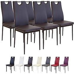 Albatros 2917 SALERNO Set de 6 sillas de comedor, marrón