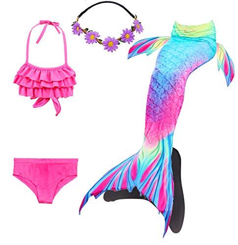 Baby Mädchen 2 Stück Tankini (COZY HUT 2019 Mädchen Meerjungfrauen Bikini Kostüm Meerjungfrau Schwimmanzug Badeanzüge Tankini, 5 Stück Set (3-12 Jahre))