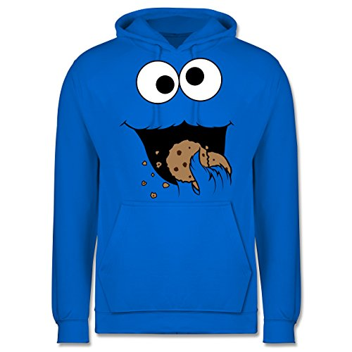 Shirtracer Karneval & Fasching - Keks-Monster - XXL - Himmelblau - JH001 - Herren Hoodie (Cookie Outfit Monster Baby)