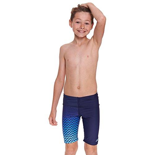 Jungen Gefüttert Swim Trunk (Zoggs Herren Badeshorts Chevron Jammer 14-15 Jahre marineblau/blau)