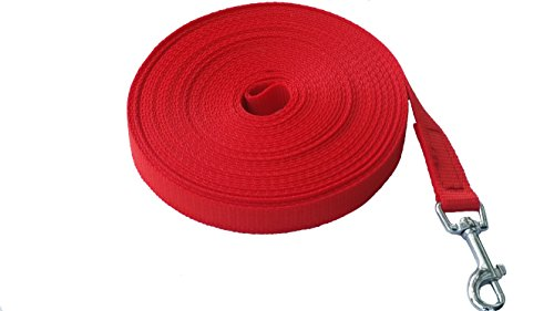 MJH/AfP Schleppleine Nylon 5m rot 20mm breit mit Handschlaufe