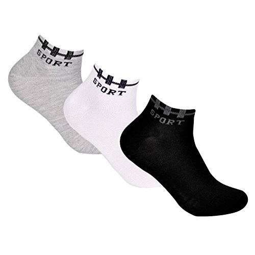12 Paar L&K Herren Sneaker-Socken Füßlinge 43/46 Sport-Schriftzug