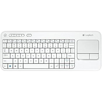 Logitech Touch K400 Tastiera Wireless con Touch-Pad Integrato, Bianco [Layout Italiano QWERTY]